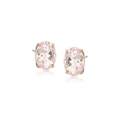 1.40 ct. t.w. Morganite Earrings in 14kt Yellow Gold, , default
