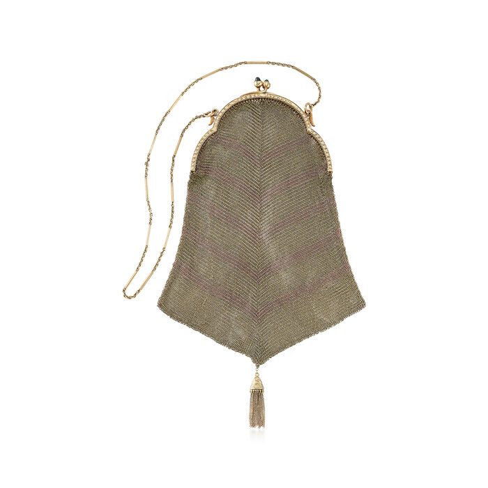 C. 1920 Vintage Purse in 14kt Tri-Colored Gold