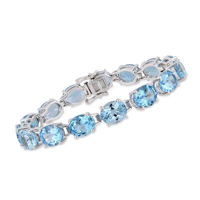 55.00 ct. t.w. Sky Blue Topaz Bracelet in Sterling Silver