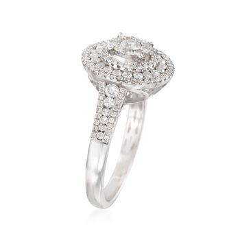 1.00 ct. t.w. Diamond Round Ring in 14kt White Gold, , default