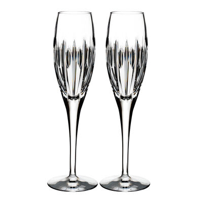 "Waterford Crystal ""Ardan"" Set of Two Mara Flutes"