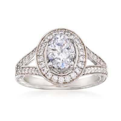 Gabriel Designs .57 ct. t.w. Diamond Engagement Ring Setting in 14kt White Gold