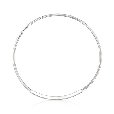 Italian Sterling Silver Curved Bar Collar Necklace, , default