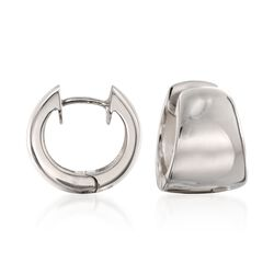 Zina Sterling Silver Huggie Hoop Earrings, , default