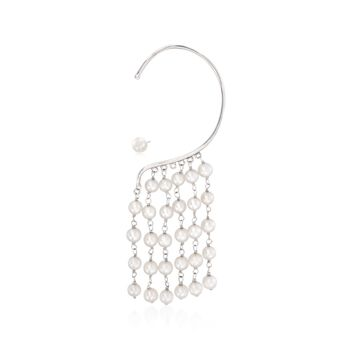 5-6mm Cultured Freshwater Pearl Mismatched Earrings in Sterling Silver , , default
