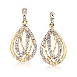 .25 ct. t.w. Diamond Teardrop Earrings in 14kt Yellow Gold, , default