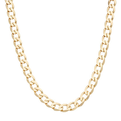 Italian Men's 18kt Gold Over Sterling 9.6mm Curb-Link Chain