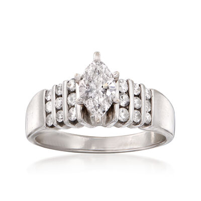 C. 2000 Vintage .90 ct. t.w. Diamond Ring in 14kt White Gold, , default