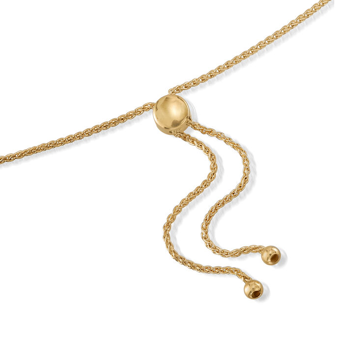 18kt Yellow Gold Over Sterling Silver Mirror and Magnifier Adjustable Necklace