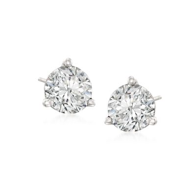 4.08 ct. t.w. Diamond Stud Earrings in 14kt White Gold, , default