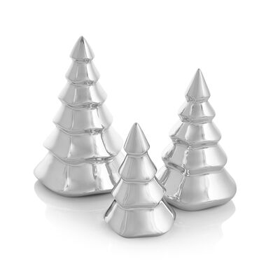 Nambe Set of 3 Mini Christmas Trees, , default