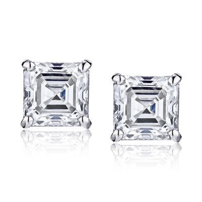 .96 ct. t.w. Certified Diamond Stud Earrings in Platinum, , default