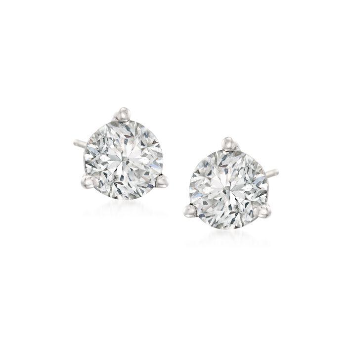 1.00 ct. t.w.Diamond Martini Stud Earrings in Platinum, , default
