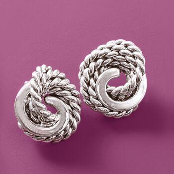 Sterling Silver Roped Knot Earrings