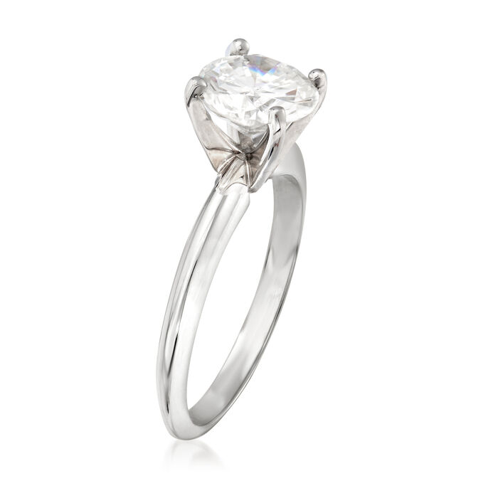 1.51 Carat Certified Diamond Ring in 14kt White Gold