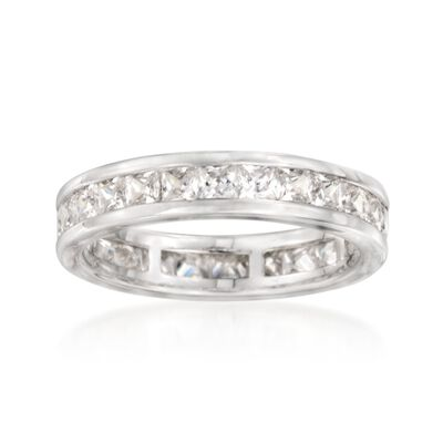 2.30 ct. t.w. Princess-Cut CZ Eternity Band in Sterling Silver