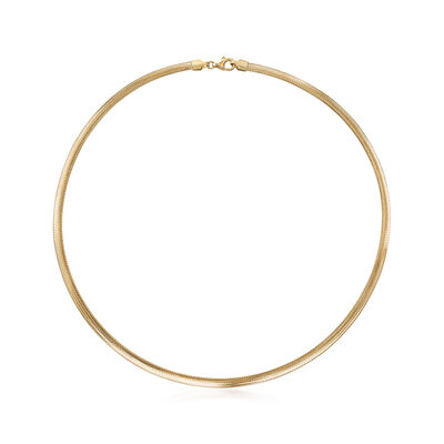 Italian 14kt Yellow Gold Mesh Necklace, , default