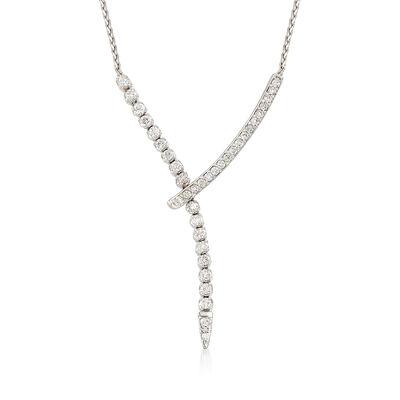 1.5 ct. t.w. Diamond Lariat Necklace in 14k White Gold, , default