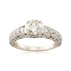 C. 2010 Vintage 1.99 ct. t.w. Diamond Hearts On Fire Ring in 18kt White Gold, , default