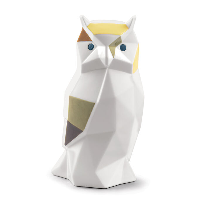 "Lladro ""Origami"" Porcelain Owl Figurine, , default"