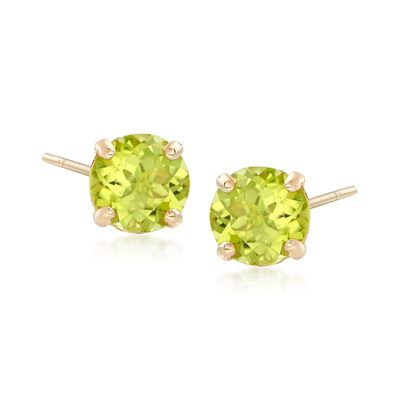1.80 ct. t.w. Peridot Stud Earrings in 14kt Yellow Gold, , default