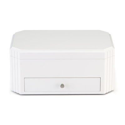 "Reed & Barton ""Lea"" White Wooden Jewelry Box, , default"
