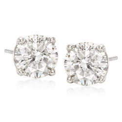 C. 2000 Vintage 3.35 ct. t.w. Diamond Stud Earrings in 14kt White Gold, , default