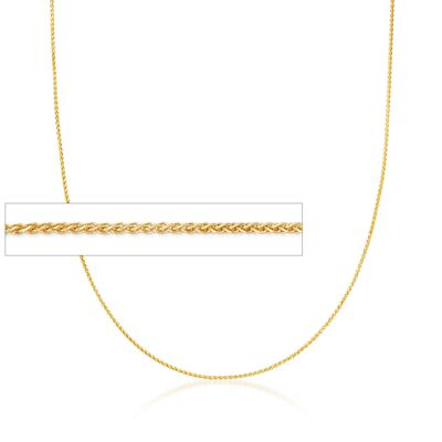 .6mm 14kt Yellow Gold Wheat Chain Necklace