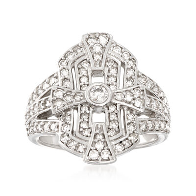 1.00 ct. t.w. Diamond Shield Ring in Sterling Silver