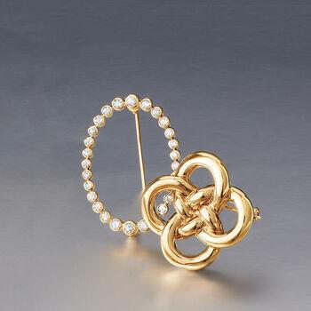 1.00 ct. t.w. Bezel-Set Diamond Pin in 14kt Yellow Gold , , default
