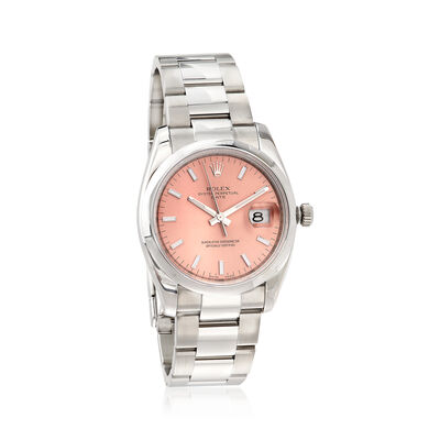Pre-Owned Rolex Datejust Women's 34mm Automatic Stainless Steel Watch, , default