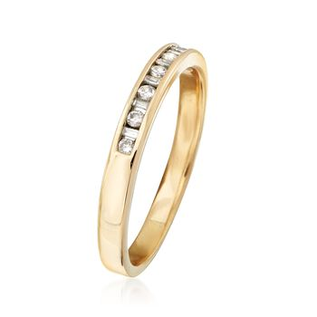 C. 1990 Vintage .25 ct. t.w. Channel-Set Diamond Ring in 14kt Yellow Gold. Size 9.5, , default