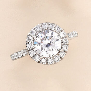 .68 ct. t.w. Diamond Halo Engagement Ring Setting in 14kt White Gold, , default