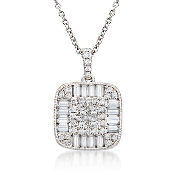 """Gregg Ruth 1.26 ct. t.w. Diamond Pendant Necklace in 18kt White Gold. 18"""", , default"""