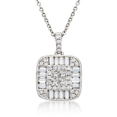 Gregg Ruth 1.26 ct. t.w. Diamond Pendant Necklace in 18kt White Gold, , default