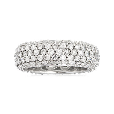 3.76 ct. t.w. Pave Diamond Eternity Band in 14kt White Gold, , default