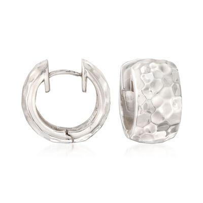 "Zina Sterling Silver ""Sahara"" Huggie Hoop Earrings"