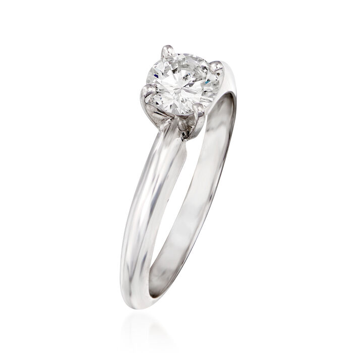 .60 Carat Diamond Solitaire Ring in 14kt White Gold