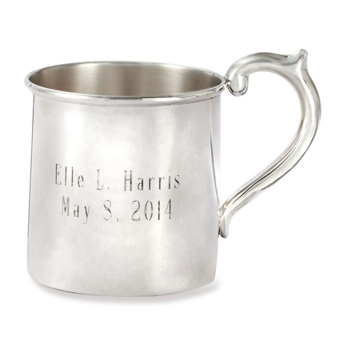 Cunill Baby's Sterling Silver Personalized Cup, , default