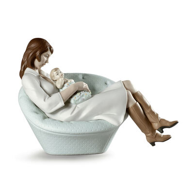 Lladro Mother and Child Porcelain Figurine: Feels Like Heaven, , default