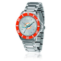 Men's 46mm NFL Miami Dolphins Stainless Steel Key Watch, , default