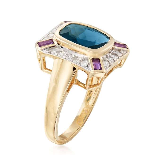 3.06 ct. t.w. Multi-Gemstone Ring in 14kt Yellow Gold