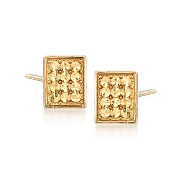 14kt Yellow Gold Square Earrings, , default