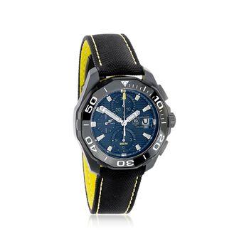 TAG Heuer Aquaracer Men's 43mm Auto Chronograph Titanium Watch With Black Nylon Strap, , default