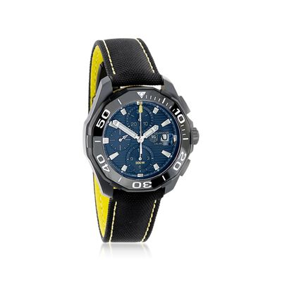 TAG Heuer Aquaracer Men's 43mm Auto Chronograph Titanium Watch with Black Nylon Strap, , default