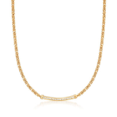 .50 ct. t.w. Diamond Byzantine Bar Necklace in 18kt Gold Over Sterling, , default