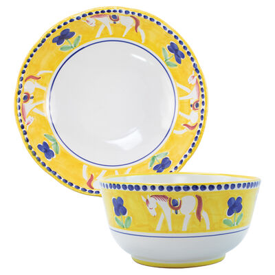"""Vietri """"Campagna Cavallo"""" Serving Bowl from Italy"""