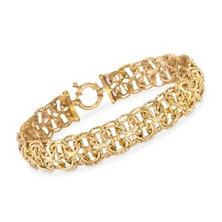 "14kt Yellow Gold Oval Link Bracelet. 7.5"", , default"