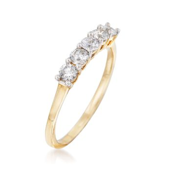 .50 ct. t.w. Five-Stone Diamond Ring in 14kt Yellow Gold, , default