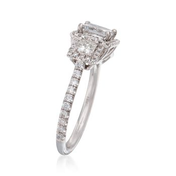 1.96 ct. t.w. Diamond Ring in 18kt White Gold. Size 6